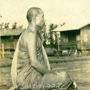 Ajahn Lee in meditation posture side view