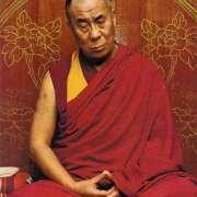 The dalai lama tenxin gyatso in meditation