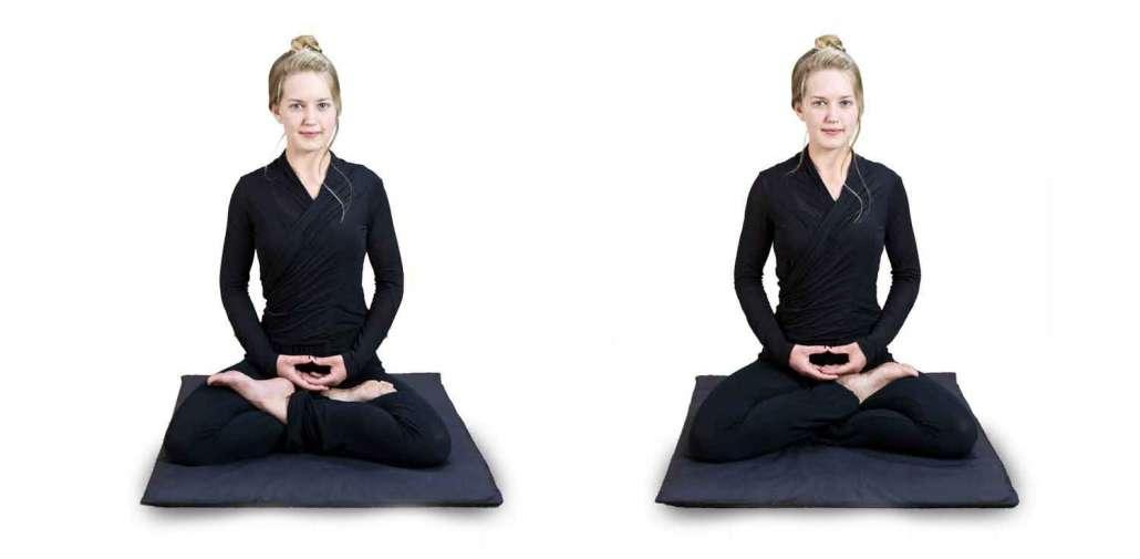 seated meditation posture lotus and half lotus postures