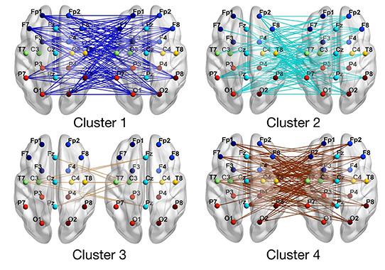 Figure connection entre cerveaux Cho Escoffier 2018 Frontier Psychology