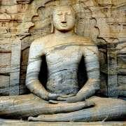 Buddha of gal-vihara sri lanka in deep mindfulness concentration of the jhanas