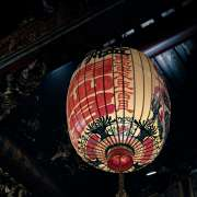 lantern in a taoist temple scaled